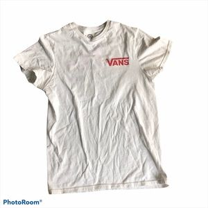 """Vans """"off the wall"""" white t shirt size small"""